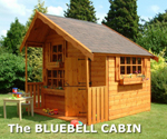 The BLUEBELL with optional felt shingle tile roof